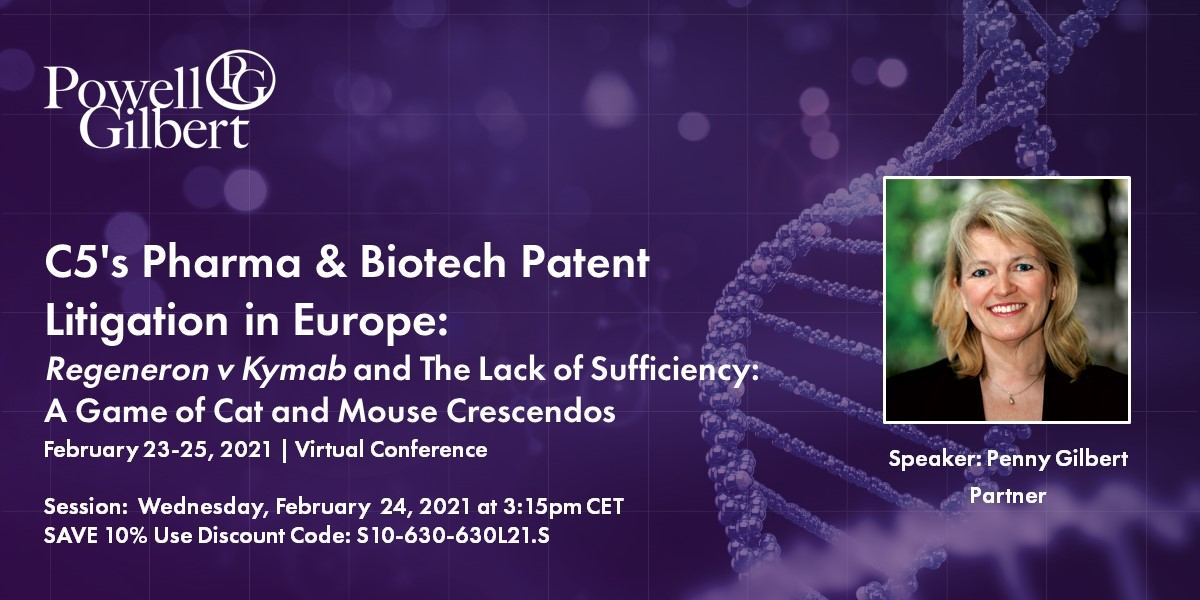 C5 Pharma & Biotech Patent Litigation in Europe virtual event on Wednesday, 24 February 2021