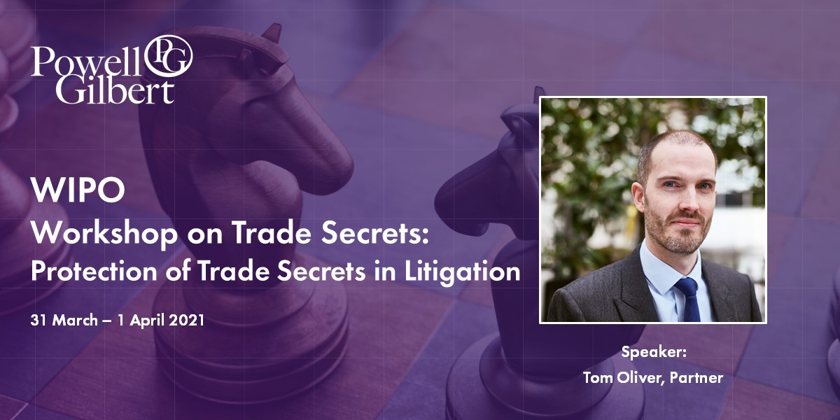 WIPO Virtual Workshop on Trade Secrets, March 31- April 1, 2021